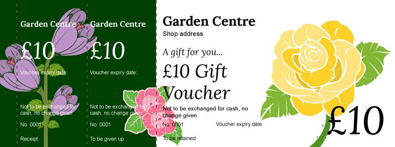Voucher design - Garden Centre Gift Vouchers Template ...