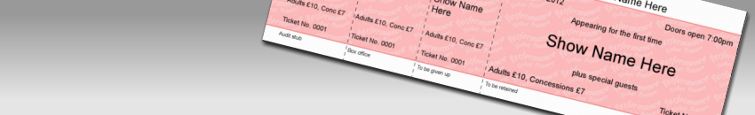 Basic tickets - make tickets, design tickets online, print event tickets, event ticket printing, make your own tickets